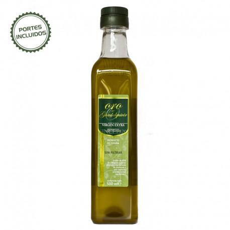 Botella Pet 0,5 litros Aceite de Oliva Virgen Extra sin Filtrar