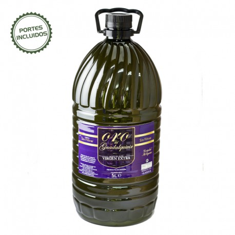 Garrafa 5 litros aceite de oliva virgen extra Arbequina